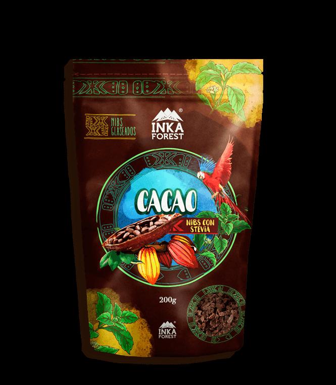 Nibs de Cacao con Stevia.